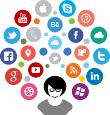 reseaux sociaux logo social networks