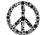 Peace and love logo amour